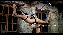 Twink Steven Prior hung from the ceiling and sucked