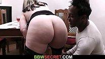 Blonde bbw swallows big black cock pornhub video