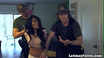 Latina babe doggystyled by US border patrol