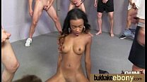Ebony gets fucked in all holes by a group of white dudes 28