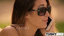 blacks and blondes - TUSHY Eva Lovia movie part 5 FIRST double penetration and big gapes thumbnail