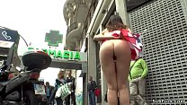American tourist naked walking in public
