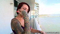 Tatted up Redhead Babe thumbnail