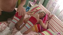Curvy Sister Teen Wake Up Bro for Taboo Fuck with Squirt
