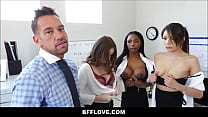 Rad Dad Fucks All Three Of His Son's Future Female Assistants Sarah Banks, Sami Parker And Danni Rivers POV Thumbnail