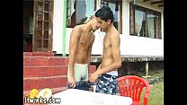 Barely legal Latin twinks getting it off outdoors
