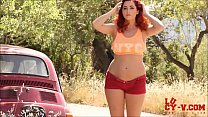Hot Redhead stripteases with My Way