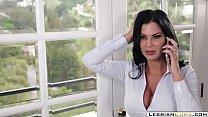LesbianCUMS.com | Big Tits Lesbian Jasmine Jae Moms and Step Daughter
