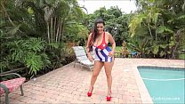 Angelina Castro Suck and Fuck in Cuban Flag