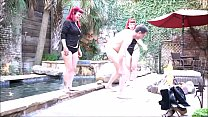 14717 The RED SISTERS (Lady Karma and Roxie Burns) ballbusting Andrea Diprè preview