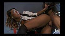 Stunning ebony babe Lelani Leanne takes a huge ...