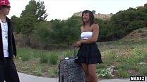 WANKZ- Rap Video Girl Sucks Off Hard White Cock