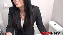 Brunette MILF Alyssa Jade showing off her pussy and ass thumbnail