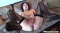 Auditioning trans beauty wanks hard cock solo - BasedCams.com