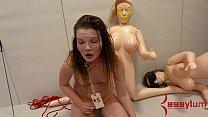 jessica nigri blowjob - Innocent teen gets brutal painal on top of metal shopping cart thumbnail
