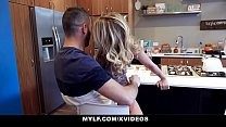 MYLF - Big Dick Stepson Cums All Over Hot Cougar Stepmom's Thumb