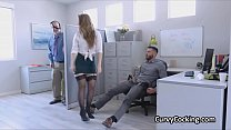 Xx.vedio - big tit boss motivates employees with her curves thumbnail