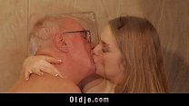 15113 Old man fucks young blonde masseuse cums in her mouth preview