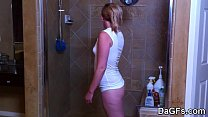 My sexy gf in the shower