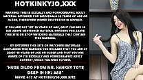Huge dildo from Mr. Hankey toys deep in HKJ ass