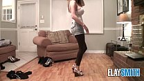 Teen Tries  Clothes Shows of Slender Body and Huge Tits Shoes - 9Club.Top