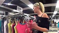 Charming czech cutie gets tempted in the shopping centre and screwed in pov