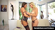 Foxy Fuck Fiends Natalia Starr & August Ames Eat That Pussy!'s Thumb