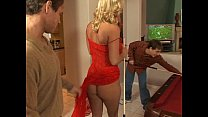 Pool room orgy and dp fuck