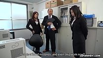 Cute Japanese witch makes her redhead coworker ...