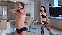 Satomi Suzuki High Heel Licking Slave and Whipping