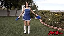 Teen Asian cheerleader Kendra Spade plowed and soaked in cum