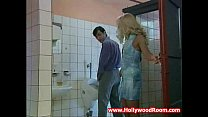 Horny Wife Fucks Stranger In Public Toilet