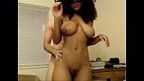 gorgeous masked ebony sucking bfs white cock thumb
