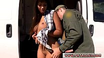 Police uniform threesome Hot Latina Strip-Searched and Fucked