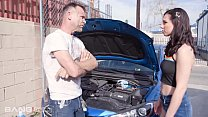 Trickery - Brunette Teen Pays Mechanic With Her...