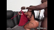 Luscious Skank Monica Santhiago Gets Ruined By Driver's Thumb
