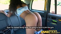 Fake Taxi Ebony horny beauty twerks on drivers big cock