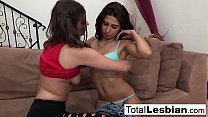 Super hot brunettes get down and dirty on the c... thumb