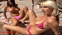 Legsandfeetvideos.com 2 sexy girls share cock g...