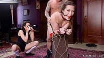 Bdsm couple submitting photographer