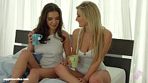 Sensual lesbian scene by Sapphix with Henessy and Jemma Valentine - Hot Morning