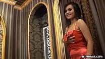 Thai escort girl, Pink got a facial cumshot after fucking