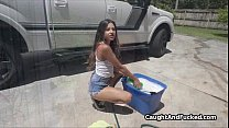 Fucking the sexy carwash chick Preview