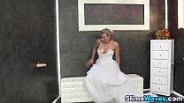 Fetish bride gets bukkake