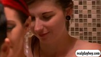 Horny couple threesome with pretty girl in the bedroom - 9Club.Top