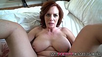 Horny Busty Milf Andy Fucks Her Step Sons Big C...