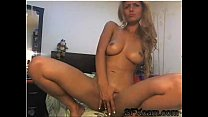 Sexy blonde touching her pussy on the webcam live sex chat at SFXcam.com