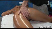 Hot honey sucking off deep her massage therapist