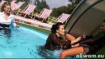 Pool-Kampf Kinky eurobabe