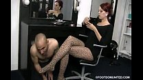 Mistress Crash Stockings Feet Worship